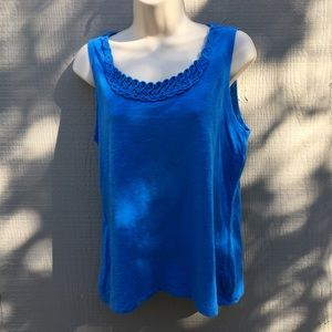 Chico's Blue Sleeveless Top Size 1